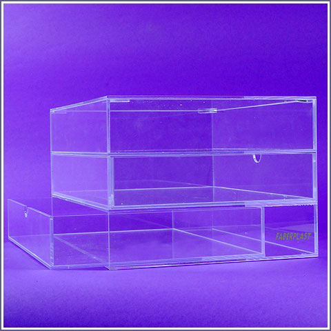 acrylic plexiglas furniture drawers without handle