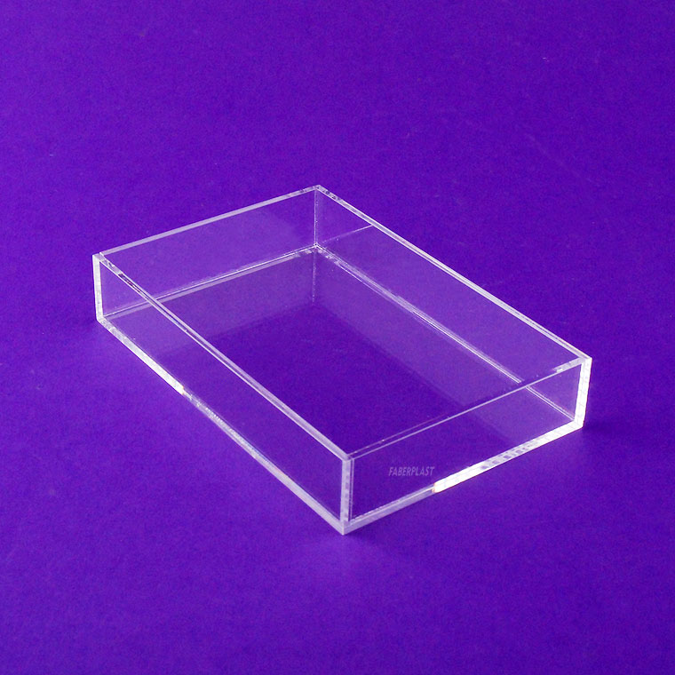 acrylic plexiglas tray model mini