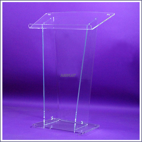 acrylic plexiglas lectern dmini low height