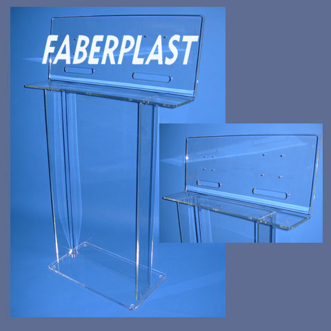 acrylic plexiglas lectern exhibition tv