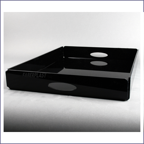 tray black plexiglas hosteleria
