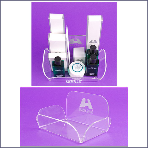acrylic plexiglas tray amenities