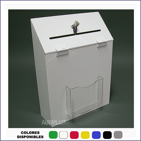plexiglas suggestion box faber