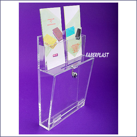 acrylic plexiglas suggestion box high thickness