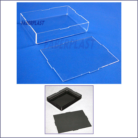 acrylic plexiglas embedded box without handle