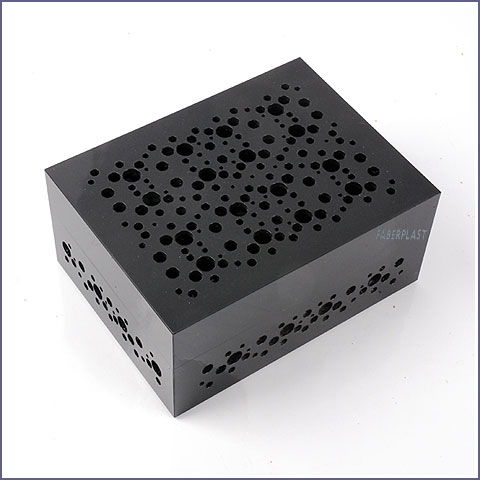 acrylic plexiglas box black circles