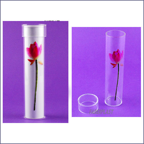 acrylic plexiglas tube with cover