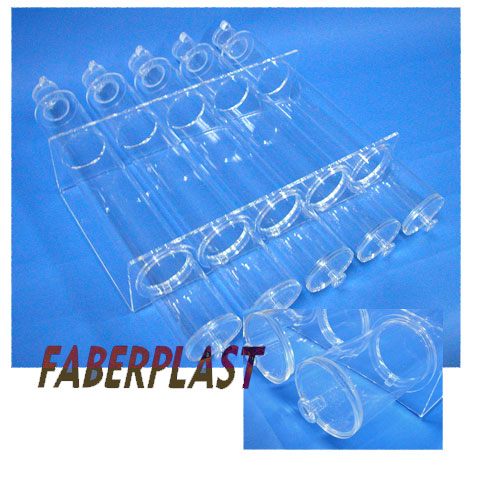acrylic plexiglas tube dispenser container