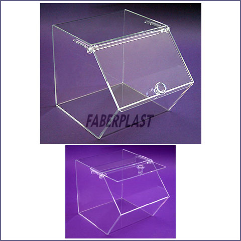 acrylic plexiglas box with power knob