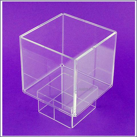 acrylic plexiglas cube blade holder elevated