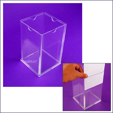 acrylic plexiglas cube blade holder xl