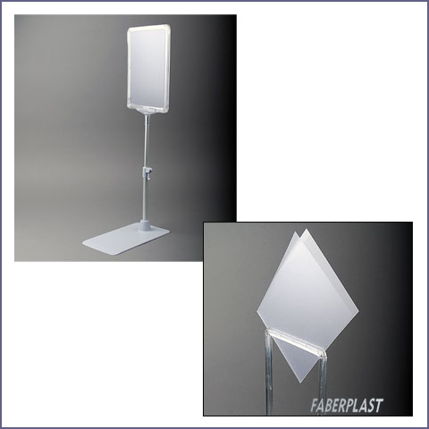 acrylic sign holder with different heights