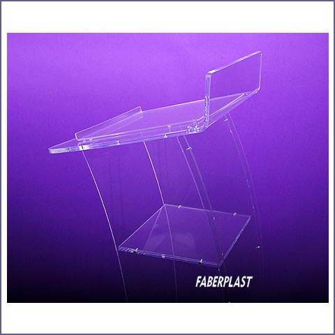 acrylic plexiglas lectern with cartel