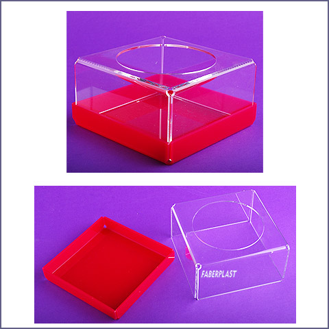 acrylic plexiglas napkin holder fuchsia basis