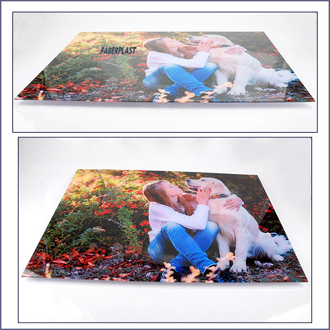 acrylic plexiglas photo frame golden