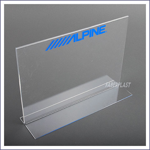 leaflet display plexiglas pmma alpine