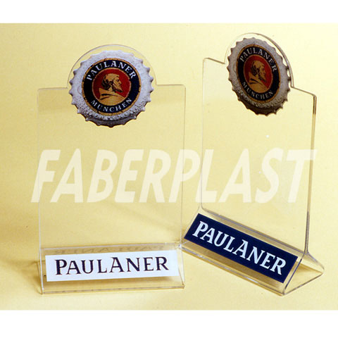 acrylic plexiglas menu holder paulaner