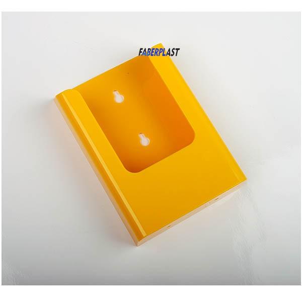 Brochure Holder Acrilic Polystyrene Bright Yellow 1 3 A4