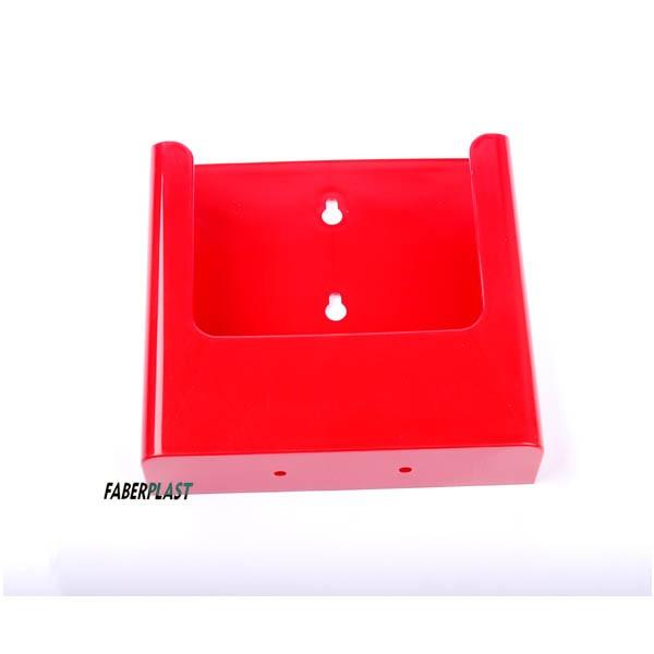 Brochure Holder Acrilic Polystyrene Bright Red A5 Vertical