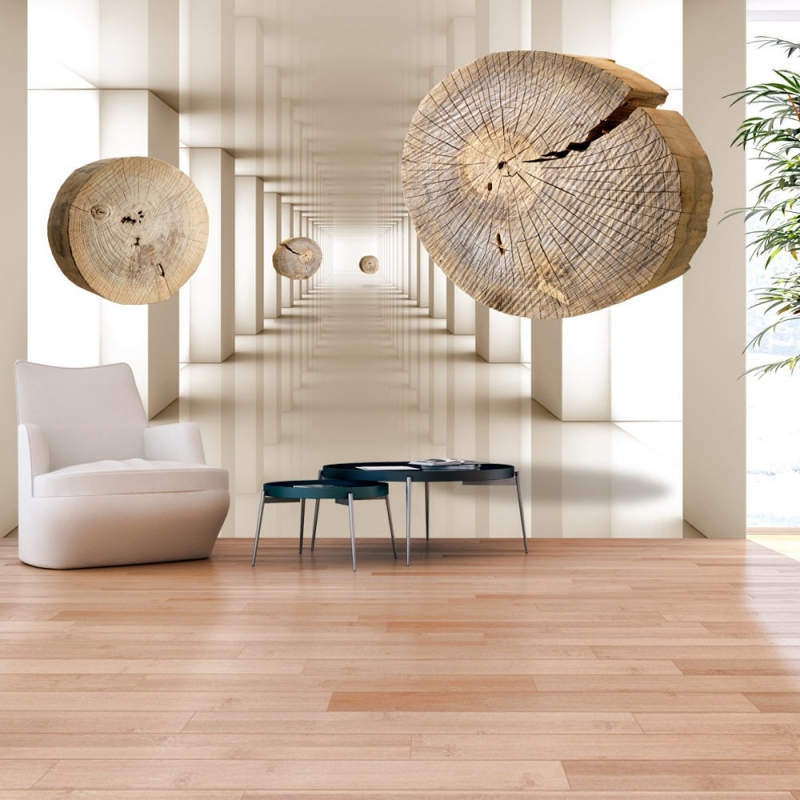 Wallpaper - Flying Discs of Wood | Wallpapers | Decoration