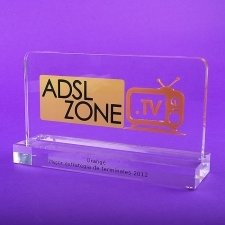 Perspex Trophy ADSL ZONE ORANGE