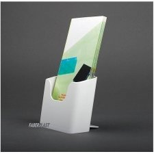 BROCHURE HOLDER ACRILIC POLYSTYRENEBRIGHT WHITE 1/3 A4 VERTICAL