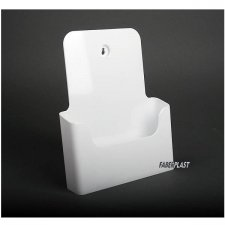 BROCHURE HOLDER ACRILIC POLYSTYRENEBRIGHT WHITE A4 VERTICAL