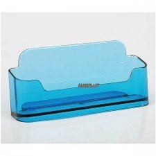 BUSINESS CARD HOLDER ACRILIC POLYSTYRENETRANSLUCENT BLUE