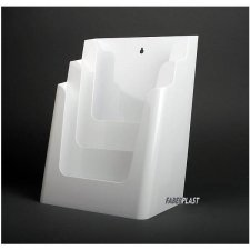 BROCHURE HOLDER ACRILIC POLYSTYRENEBRIGHT WHITE A4 VERTICAL (3 CASES)