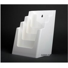 BROCHURE HOLDER ACRILIC POLYSTYRENEBRIGHT WHITE A5 VERTICAL (4 CASES)