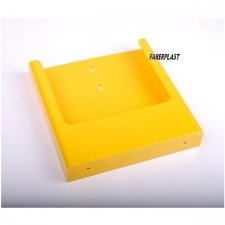 BROCHURE HOLDER ACRILIC POLYSTYRENE BRIGHT YELLOW A4 VERTICAL (WALL)