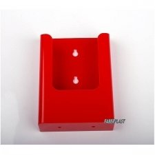 BROCHURE HOLDER ACRILIC POLYSTYRENEBRIGHT RED 1/3 A4 VERTICAL (WALL)