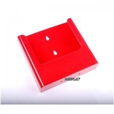 BROCHURE HOLDER ACRILIC POLYSTYRENE BRIGHT RED A5 VERTICAL (WALL)