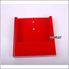 Brochure Holder Acrylic Red A4 Wall
