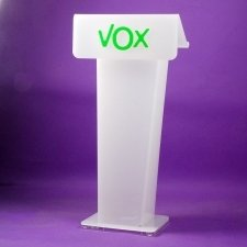 Acrylic perspex lectern VOX