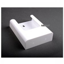 BROCHURE HOLDER ACRILIC POLYSTYRENEBRIGHT WHITE 1/3 A4 VERTICAL (WALL)