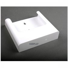 BROCHURE HOLDER ACRILIC POLYSTYRENE BRIGHT WHITE A5 VERTICAL (WALL)