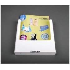 BROCHURE HOLDER ACRILIC POLYSTYRENE BRIGHT WHITE A4 VERTICAL (WALL)