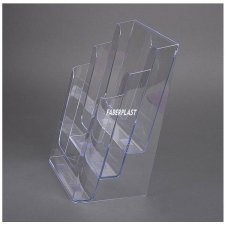 Acrylic Brochure Holder A4 vertical position (3 pockets)