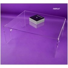 Acrylic plexiglas coffee table (Perspex-pmma) ODA
