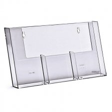 Acrylic Brochure Holder WALL 3 wide 1/3rd A4