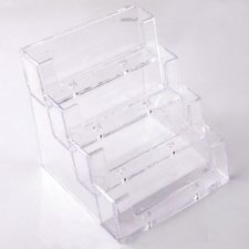 Acrylic plexiglas Card Holder 4 STAIRS V