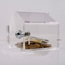 Perspex Piggy Bank MINI HOME