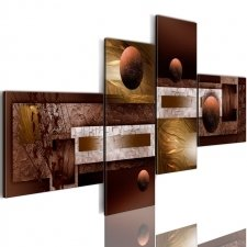 Canvas Print - Spheres and textures