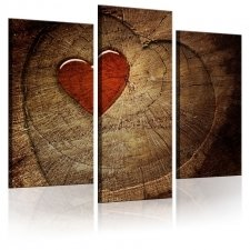 Canvas Print - Old love does not rust - triptych