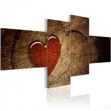 Canvas Print - Old love does not rust - 4 pieces