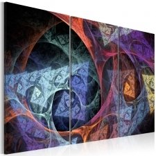 Canvas Print - Mysterious colors abstraction