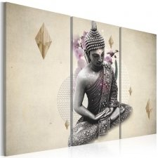 Canvas Print - Buddha´s figure- view from the top