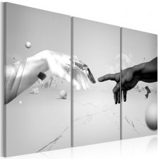 Canvas Print - Touch in black-and-white