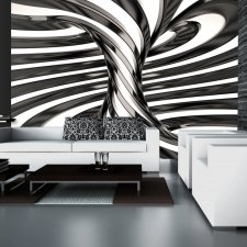 Wallpaper - Black and white swirl